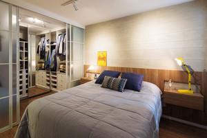 宜家风格简约卧室整体衣柜设计装修效果图