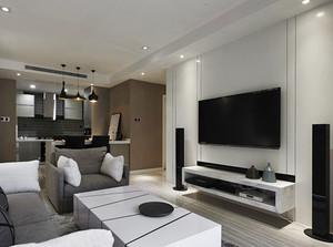 66平米现代风格精装单身公寓装修效果图案例