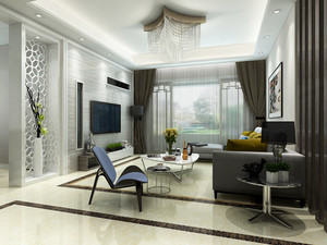 74平米现代风格精装公寓装修效果图赏析