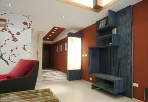 129平米活力新中式风格复式楼室内装修效果图