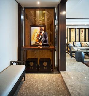 中式风格大户型精致入户玄关柜装修效果图