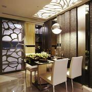 简欧风格大户型室内精美餐厅吊顶装修效果图