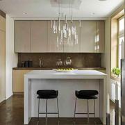 现代风格两居室室内开放式厨房吧台装修效果图
