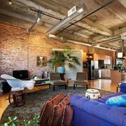 复古工业风格室内客厅装修效果图鉴赏