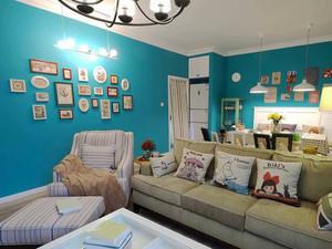 时尚个性混搭风格三室两厅室内装修效果图案例