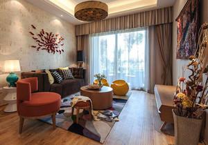混搭风格两居室室内客厅装修效果图赏析
