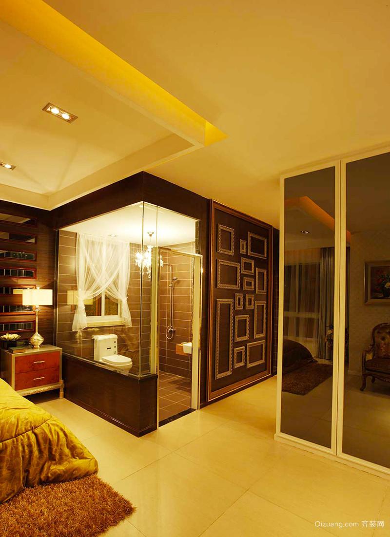 120平米仿古欧式风格精装室内装修效果图赏析