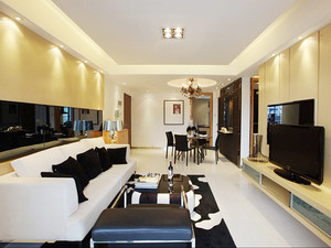 128平米简欧风格三室两厅室内装修效果图赏析