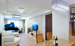 125平米简约风格原木风三室两厅室内装修效果图