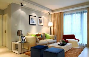 现代风格小户型客厅沙发背景墙装修效果图