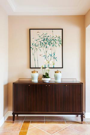 144平米清新美式风格复式楼室内装修效果图案例