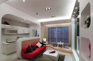 现代简约风格小户型室内客厅隔断设计装修效果图