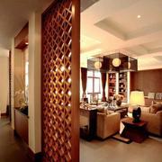 中式风格大户型室内客厅隔断设计装修效果图赏析