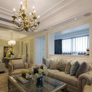 欧式风格精装室内客厅吊灯设计装修效果图赏析