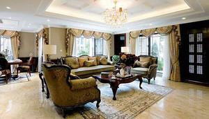 290平米美式风格精致别墅室内装修效果图赏析