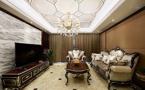 古典欧式风格别墅室内客厅吊顶装修效果图赏析
