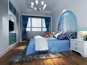地中海风格大户型室内卧室背景墙装修效果图赏析
