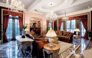 243平米新古典主义风格别墅室内装修效果图赏析