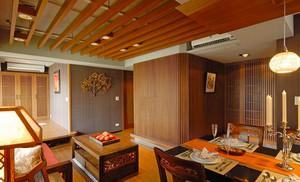 80平米精致典雅中式风格室内装修效果图