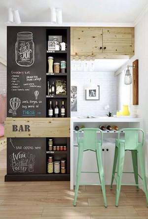 北欧风格小户型创意吧台设计装修效果图赏析