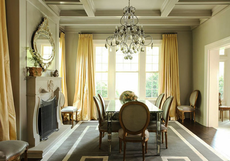 欧式风格别墅室内精美餐厅窗帘设计装修效果图