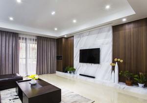 现代风格大户型客厅大理石电视背景墙装修效果图赏析