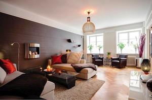 80平米时尚个性混搭风格室内装修效果图案例