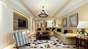 现代美式风格大户型客厅装修效果图赏析
