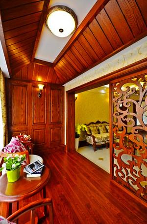 165平米美式乡村风格大户型室内装修效果图案例