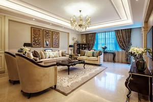 欧式风格大户型室内精致客厅吊顶装修效果图