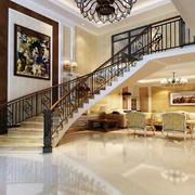 欧式风格别墅室内楼梯装修效果图鉴赏