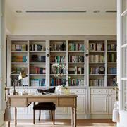 欧式风格别墅室内精装书房装修效果图