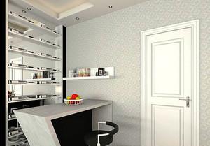 93平米现代简约风格三室两厅室内装修效果图赏析