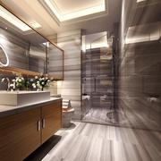 宜家风格大户型室内卫生间浴室柜装修效果图赏析