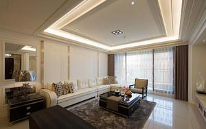 142平米简欧风格精装三室两厅室内装修效果图案例