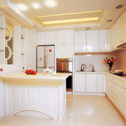 现代风格大户型室内精致纯白厨房装修效果图