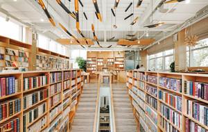 300平米简约风格大型书店装修效果图赏析