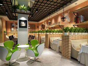68平米后现代风格简约文艺咖啡厅装修效果图