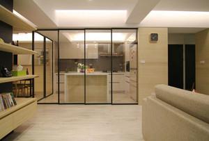 现代风格两居室厨房隔断装修效果图赏析