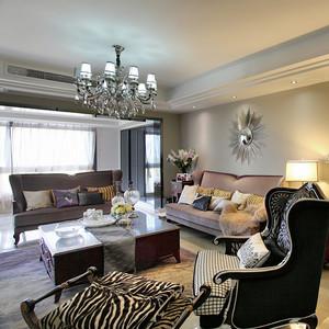 149平米欧式风格精致高端三室两厅室内装修效果图