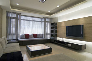 后现代风格小户型客厅飘窗设计装修效果图
