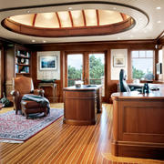美式风格别墅室内精致大书房装修效果图