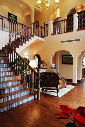 290平米美式田园风格别墅室内装修效果图案例