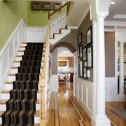 简约美式风格别墅楼梯装修效果图欣赏