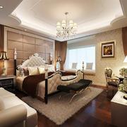 古典欧式风格别墅室内精致卧室装修效果图