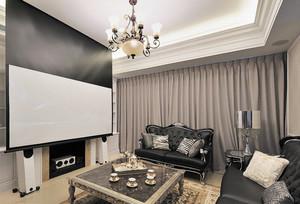欧式风格大户型室内客厅影视墙装修效果图