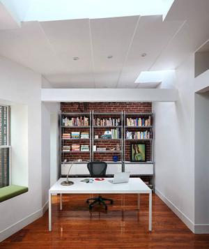 现代简约风格纯白书房设计装修效果图赏析