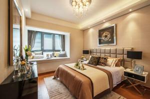 简欧风格两居室室内卧室飘窗设计装修效果图