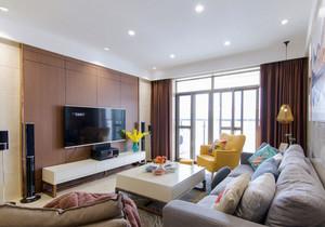 现代风格大户型室内客厅电视背景墙装修效果图