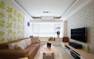91平米宜家风格简约自然三室两厅室内装修效果图